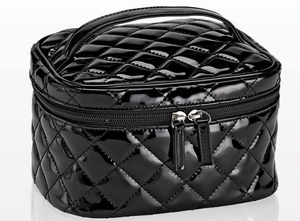 Quilted Cosmetic Train Case