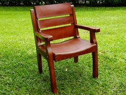Costa Rica Wood & Leather Classic Chair