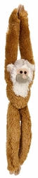 "Hanging Squirrel Monkey 14"" Plush"