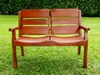 Costa Rica Wood & Leather Love Seat