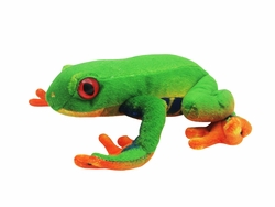 "Red Eyes Green Frog 9"" Plush"