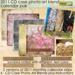 2011 CD Case Calendar Pak - Photo Art Blends