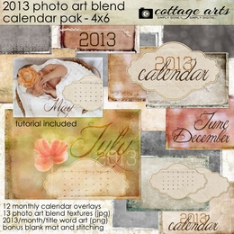 2013 4x6 Calendar - Photo Art Blends