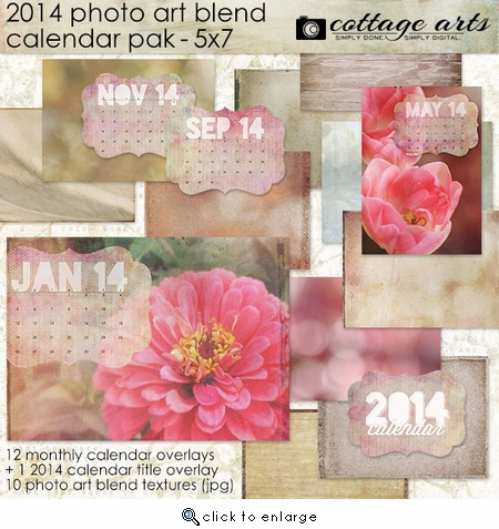 2014 5x7 Calendar - Photo Art Blends