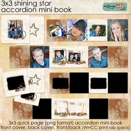 3x3 Shining Star Accordion Mini Book