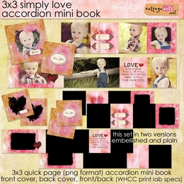 3x3 Simply Love Accordion Mini Book