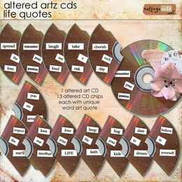 Altered Artz CDs - Life Quotes