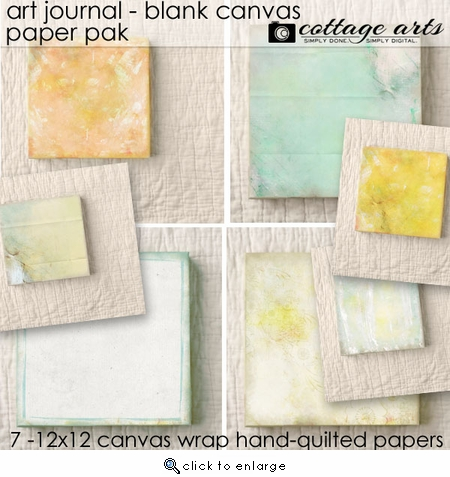 Art Journal - Blank Canvas Paper Pak