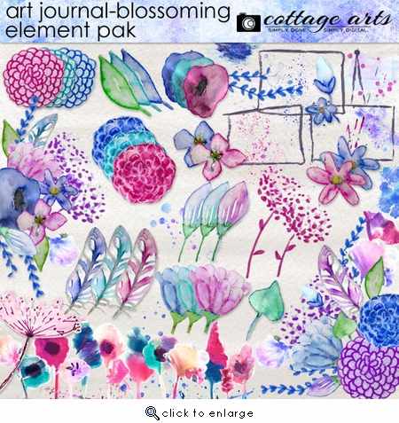 Art Journal - Blossoming Element Pak