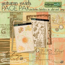 Autumn Swirls Page Pak with Brushes