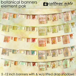 Botanical Banners Element Pak