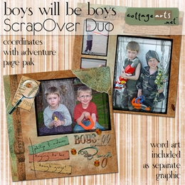 Boys will be Boys ScrapOver Duo