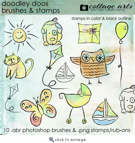 Doodley Doos Brushes & Stamps
