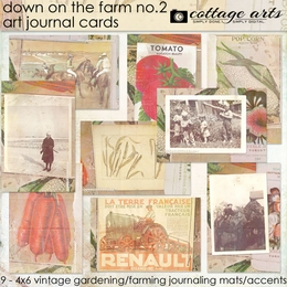 Down on the Farm 2 Art Journal Cards