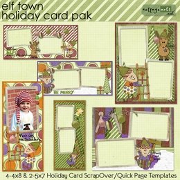Elf Town Holiday Card Pak