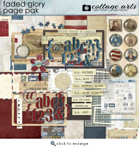 Faded Glory Page Pak w/2 AlphaSets