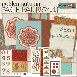 Golden Autumn 8.5x11 Printable Page Pak/AlphaSet