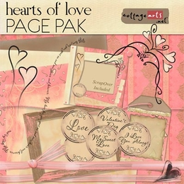 Hearts of Love Page Pak w/ScrapOver