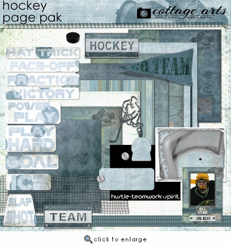 Hockey Page Pak w/Sports Card