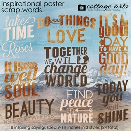 Inspirational Poster Scrap.Words