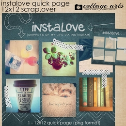 Instalove 12x12 Quick Page Scrap.Over