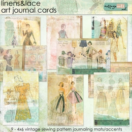Linens & Lace Art Journal Cards