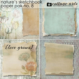 Nature's Sketchbook 8 Paper Pak