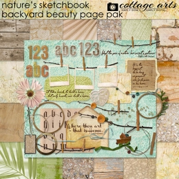Nature's Sketchbook - Backyard Beauty Page Pak w/2 Alphas