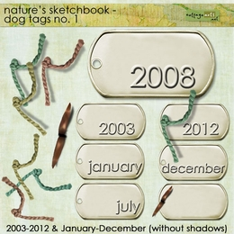 Nature's Sketchbook - Dog Tags 1