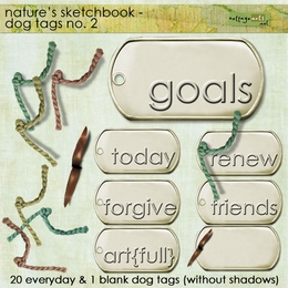 Nature's Sketchbook - Dog Tags 2