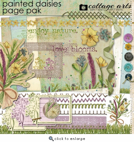 Painted Daisies Page Pak