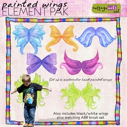 Painted Wings Elements & Brushes
