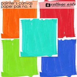 Painter's Canvas 4 Paper Pak