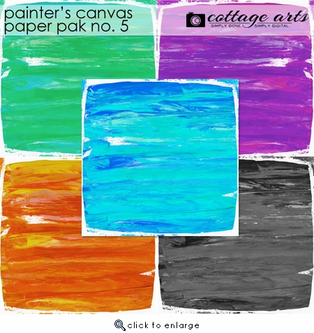 Painter's Canvas 5 Paper Pak