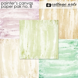Painter's Canvas 8 Paper Pak