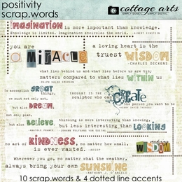 Positivity Scrap.Words