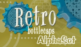 Retro Bottlecap AlphaSet