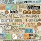 School Days Scrap.Words
