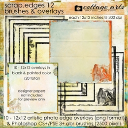 Scrap.Edges 12 - 12x12 Brushes & Overlays