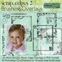 Scrap.Edges2 Brushes & Overlays (8x10)