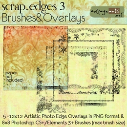 Scrap.Edges3 Brushes & Overlays (12x12)