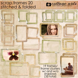 Scrap.Frames 20 - Stitched and Folded