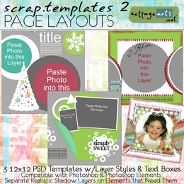Scrap Templates 2 - Page Layouts