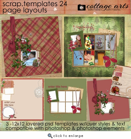 Scrap Templates 24 - Page Layouts