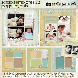 Scrap Templates 28 - Page Layouts