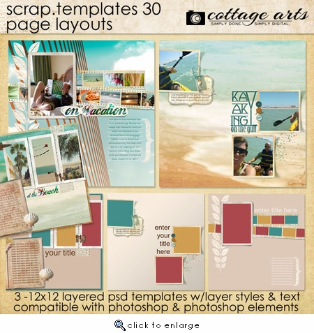 Scrap Templates 30 - Page Layouts