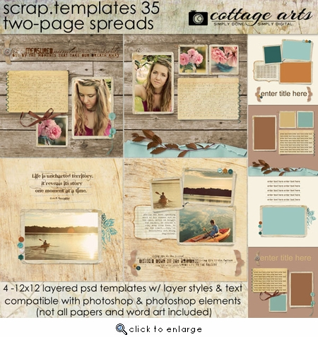 Scrap Templates 35 - Page Layouts