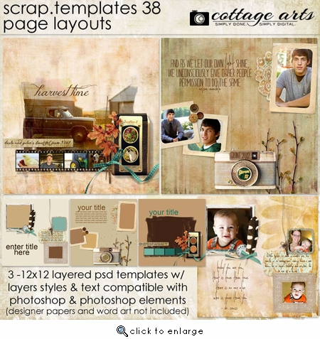 Scrap Templates 38 - Page Layouts