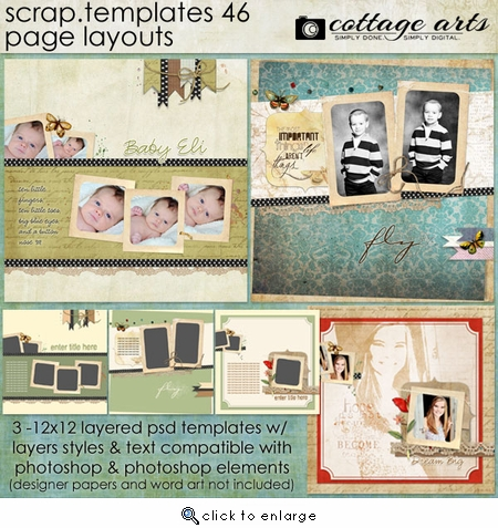 Scrap Templates 46 - Page Layouts