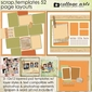 Scrap Templates 52 - Page Layouts